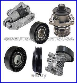 Water Pump Hydraulic Drive Belt Tensioner Pulleys A/C for BMW E36 E46 SET of 6